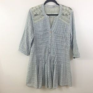 Miilla Pleated Dress Size Medium Grey
